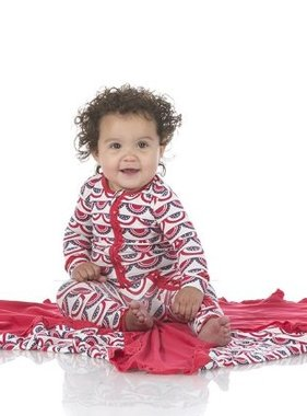 Kickee Pants Print Muffin Ruffle Coverall Zipper Flag Swag