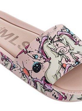 Mini Melissa Mel Beach Slide Unicorn Pink Beige