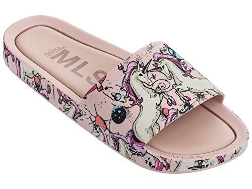 Mini Melissa Mel Beach Slide Unicorn Pink Beige
