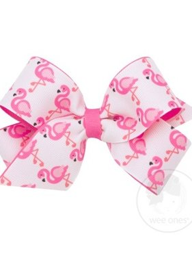 Wee Ones 8474 Flamingo Med Summer Bow