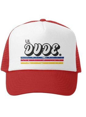 Grom Squad Dude Trucker Hat, Red/White
