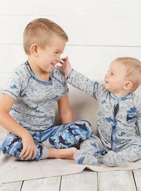 Mudpie Shark Print Pajamas