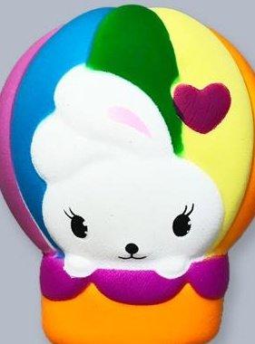 Jeannie's Enterprises Hot Air Balloon Bunny Squishy