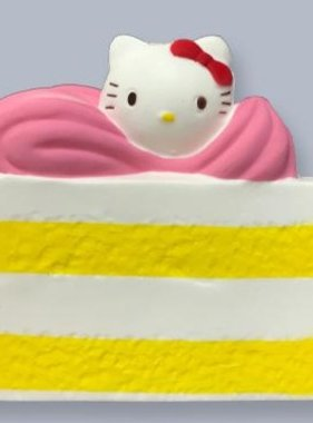 Jeannie's Enterprises Kitty Slice of Cake Squishy