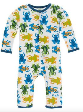 Kickee Pants Print Coverall Snaps Amazon Frogs