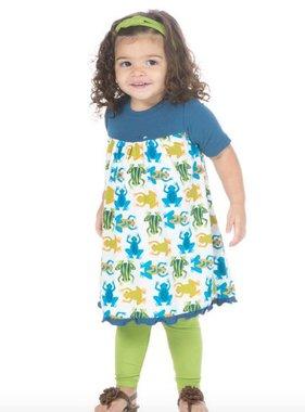 Kickee Pants Print Classic SS Swing Dress Amazon Frogs