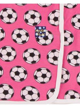 Kickee Pants Print Swaddle Blanket Flamingo Soccer
