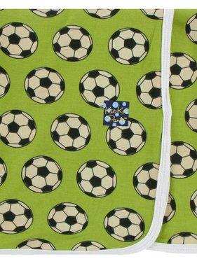 Kickee Pants Print Swaddle Blanket Meadow Soccer