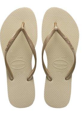 Havaianas Kids Slim Sandal Sand Grey/Lt Golden