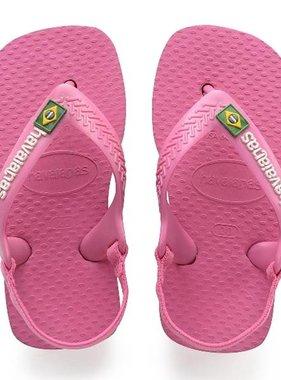 Havaianas Kids 4140577 Baby Brazil Logo, Shocking Pink