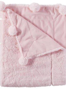 Mudpie Pink Pom Pom Blanket