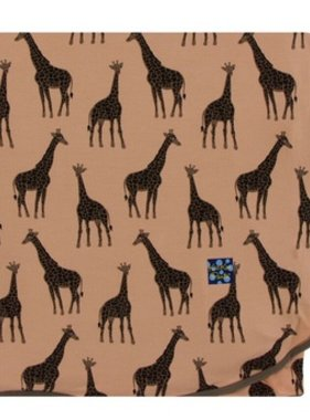 Kickee Pants Print Stroller Blanket Suede Giraffes