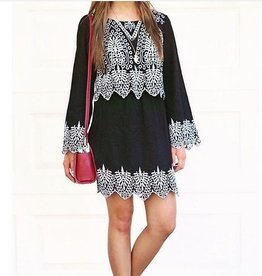Embroidered L/S Dress