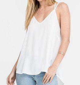 White Strappy Back Blouse