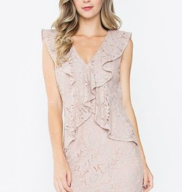 Detroit Pop Up Ruffle Lace Dress