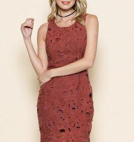 Crochet Lace Auburn Dress