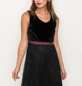 Detroit Pop Up Velvet Lace Dress
