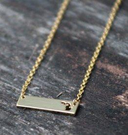 Michigan Bar Necklace