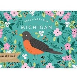 Michigan State Bird Post Card