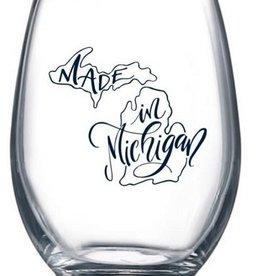Made in Michigan Wine Glass