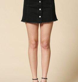 Detroit Pop Up Button Front Denim Skirt