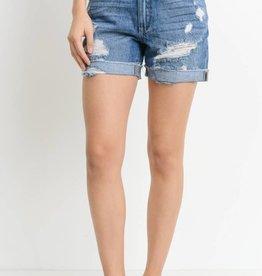 Fray Boyfriend Shorts