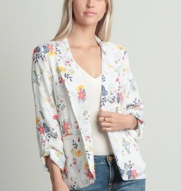 Detroit Pop Up Floral Print Blazer