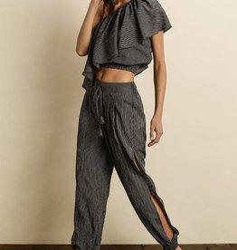 Stripe Side Slit Pants