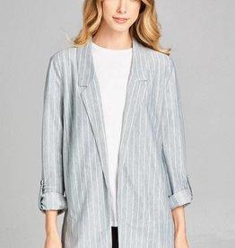 Knit Stripe Blazer