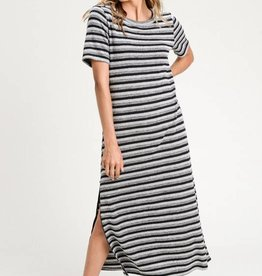 Zip Side Stripe Midi