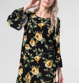 Detroit Pop Up Floral Print Shift Dress