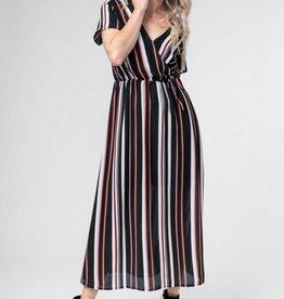 Detroit Pop Up Stripe Midi Dress