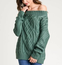 O/S Cable Knit Sweater