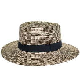 Brown Basic Boater Hat