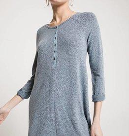 Marled Henley Dress