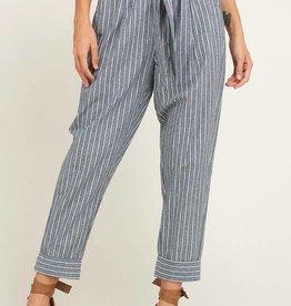 Stripe Tie Trousers