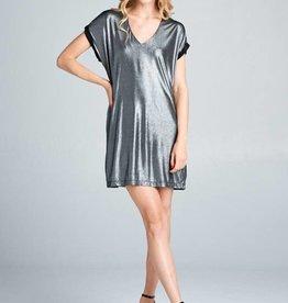 Shimmer T Shirt Dress