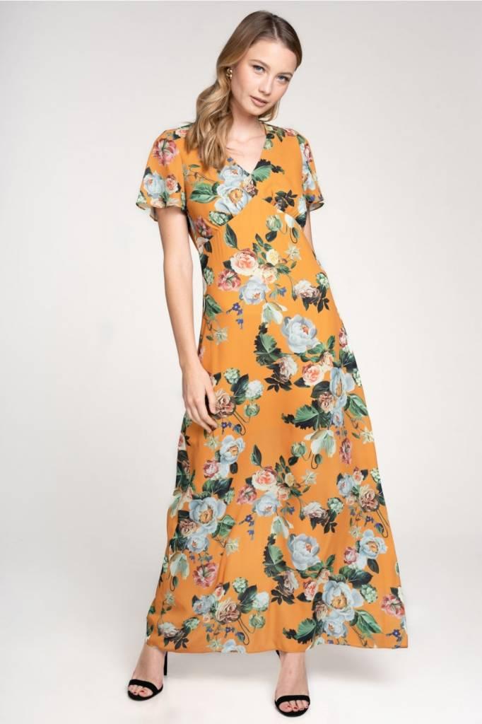 Mustard Floral Maxi
