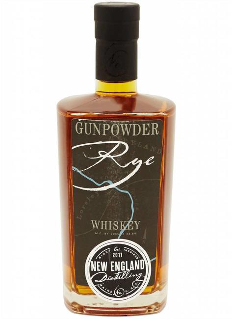 New England Distillery Gunpowder Rye Whiskey Portland, Maine