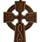 Celtic Wood Cross w/Cord