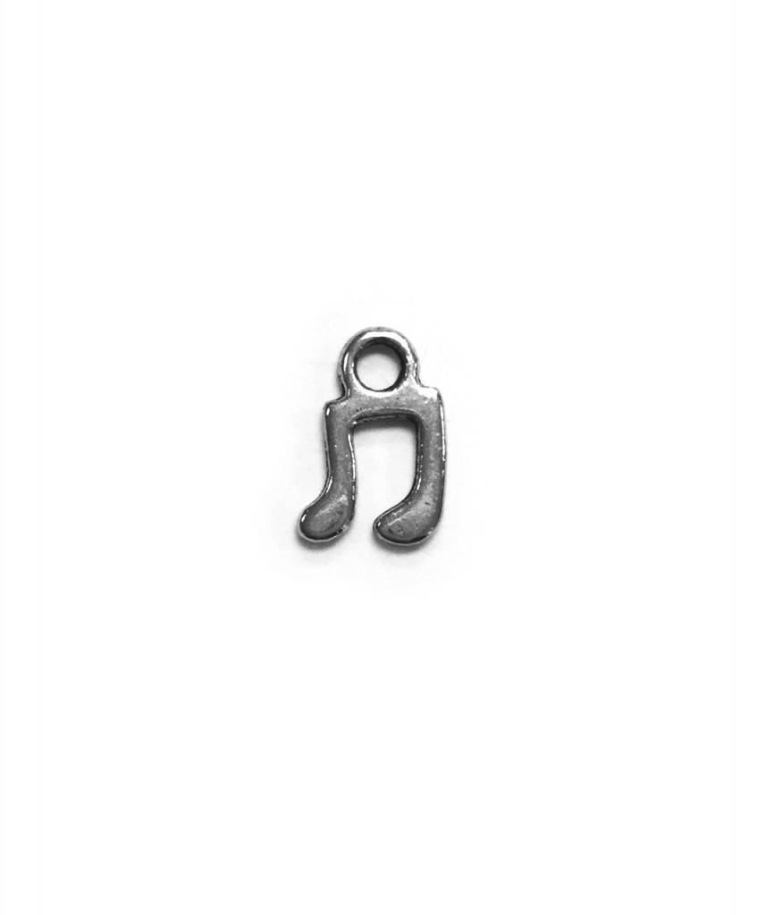 Small Music Note Metal Charm