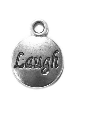 Laugh Metal Charm