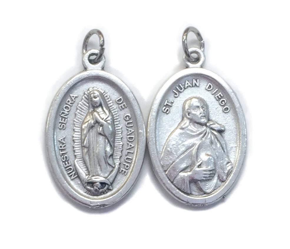 Our Lady of Guadalupe Oxidized Medal