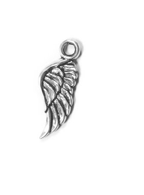 Large Angel Wing Metal Charm