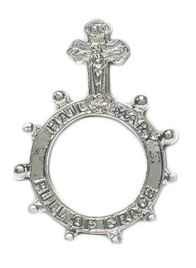 Crucifix Metal Rosary Ring