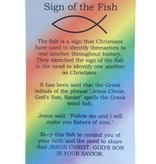 Sign of the Fish Rainbow Prayer Card
