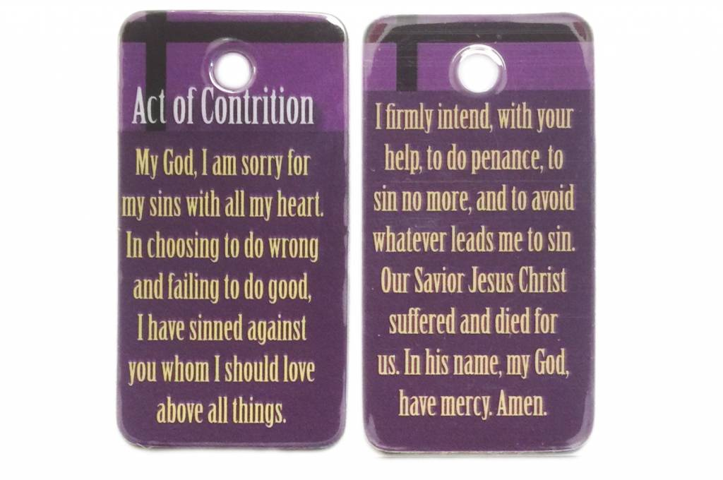 Act of Contrition Key Tag