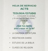 ACTS Missions Spanish Tri-Fold