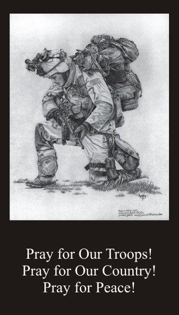 Prayer for Troops Prayer Card