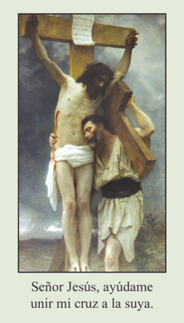 Estaciones de la Cruz Tarjeta de Oracion